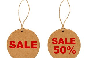 Round sale tags