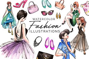 20 Watercolor Fashion Illustrations
