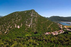 Aerial View of Ston, Croatia