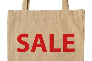 Cotton shopping bag with word SALE