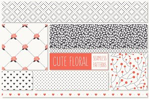 Cute Floral Seamless Patterns