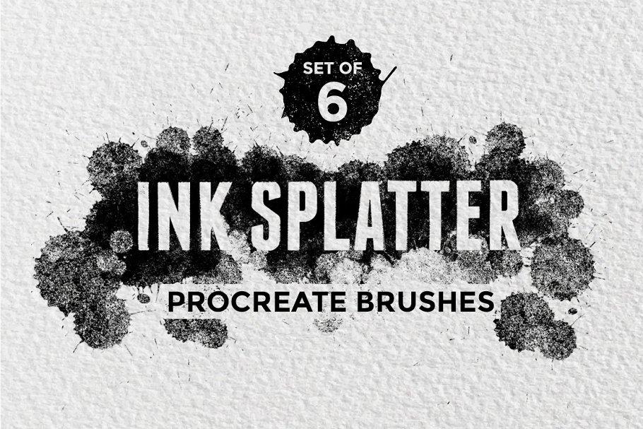 Ink Splatter Procreate Brushes