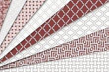 Geometric Seamless Patterns Set 1