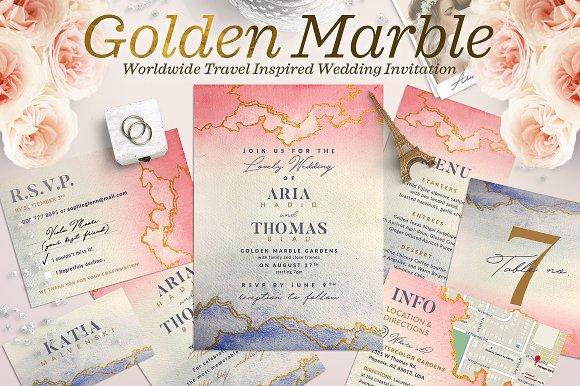 Wedding Suite XII Golden Marble I