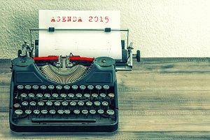 Antique Typewriter Agenda 2015