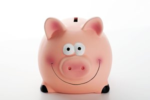 Piggy bank on white background. Isolated.