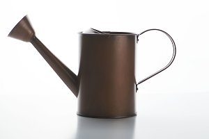 Watering can on white background. Isolated.