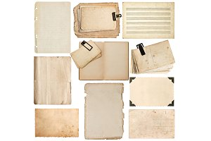Aged Paper Sheets Photo Corner