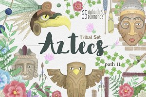 Aztecs Graphics Tribal Set