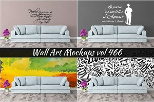 Wall Mockup - Sticker Mockup Vol 466