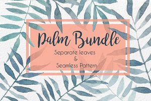 Palm Bundle. Leaves & Pattern