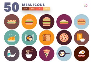 50 Meal Icons