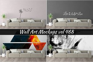 Wall Mockup - Sticker Mockup Vol 468