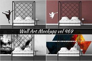 Wall Mockup - Sticker Mockup Vol 469