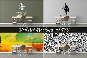 Wall Mockup - Sticker Mockup Vol 470