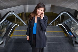Businesswoman using a phone