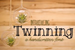 Twinning a Handwritten Font