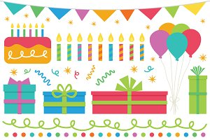 Happy Birthday Clip Art Set