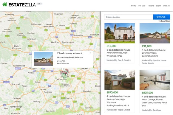 EstateZilla Bootstrap Map Theme