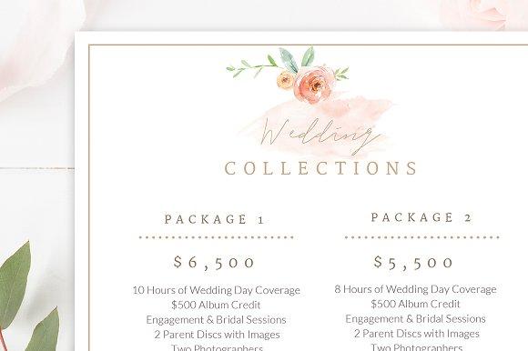 wedding photographer pricing guide flyer templates creative market
