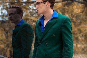 business men wearing suit
