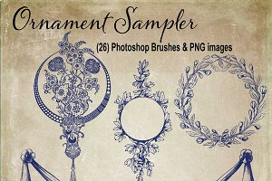 Decorative Ornament Sampler Brushes