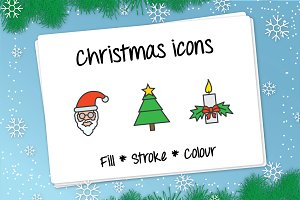 Christmas icons - vector 50