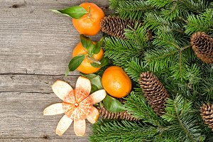 Tangerine Fruits Christmas Time