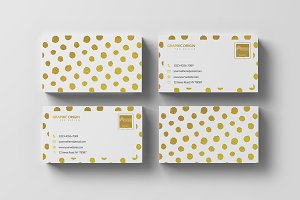 Gold Foil Business card 2