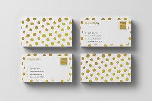 Gold Foil Business card 2