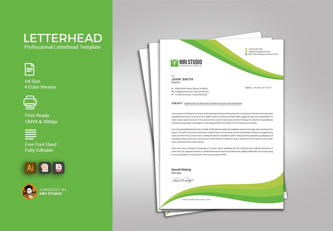Creative pro letterhead stationery templates creative market spiritdancerdesigns Image collections