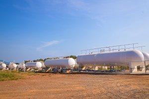 Natural Gas storage tanks