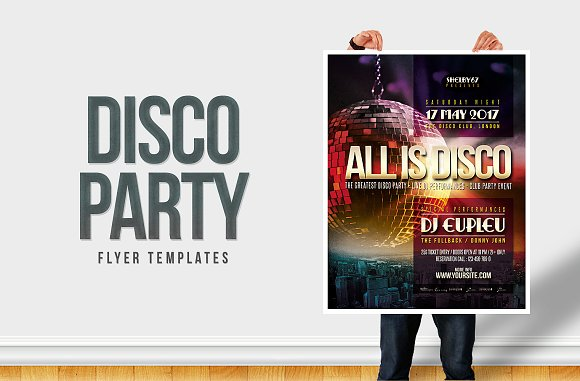 Disco Party Flyer Poster