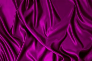 Purple silk fabric.
