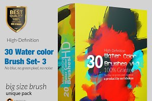 Hi-Res Water color PS Brush Set-3