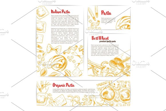 Italian Pasta Macaroni Product Poster Template