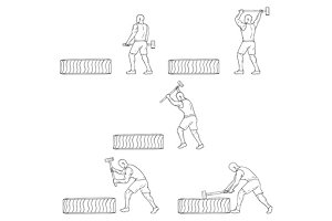 Fitness Athlete Hammer Workout