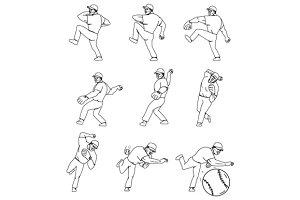 American Baseball Pitcher