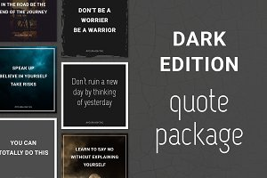 Social Media Quotes - Dark Edition