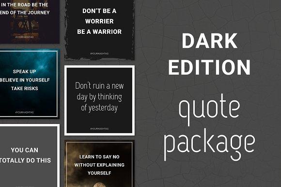 Social Media Quotes - Dark Edition