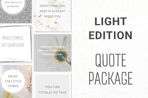 Social Media Quotes - Light Edition