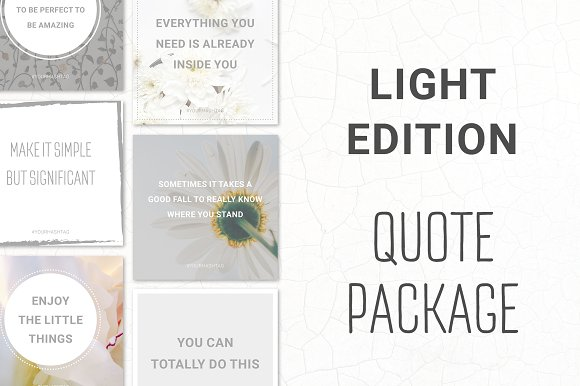Social Media Quotes Light Edition