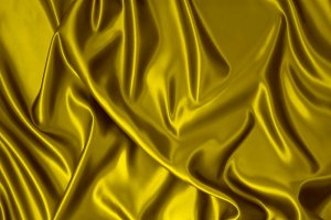 Golden silk fabric.