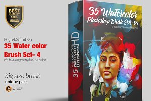 Water color Photoshop Brush Set-4