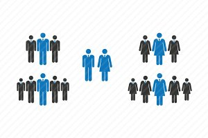 Business Men & Women Human Vector