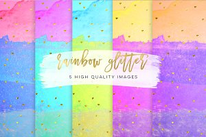 stripes color rainbow paper