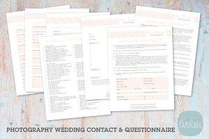 NG005 Photography Wedding Forms