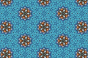 Arabic Floral Seamless Pattern