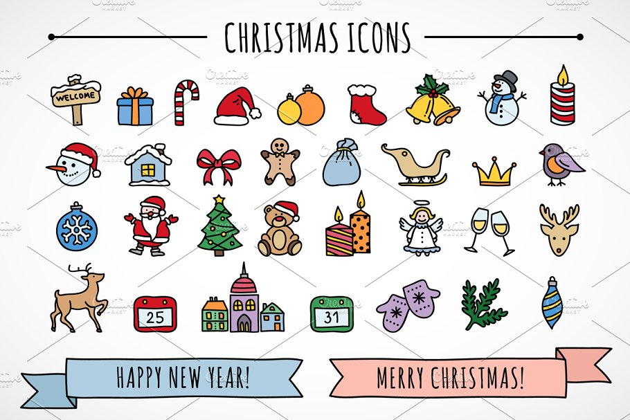 Christmas icons & patterns