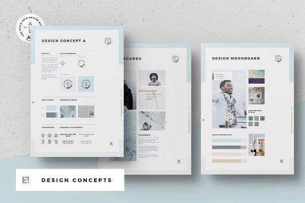 Concept Design Mood Board Templates